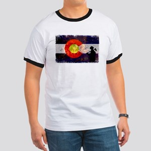 Firefighter Colorado Flag Ringer T