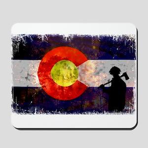 Firefighter Colorado Flag Mousepad