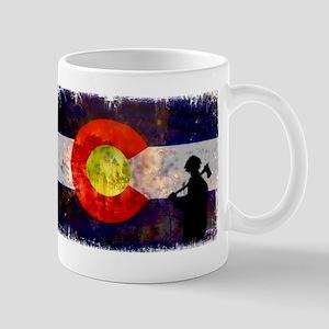 Firefighter Colorado Flag Mug