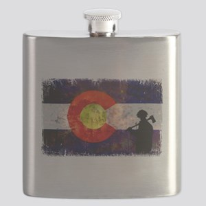 Firefighter Colorado Flag Flask