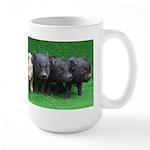 4 micro pigs in a row Mug