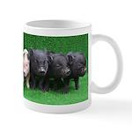 4 micro pigs in a row Small Mug