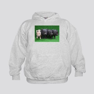 4 micro pigs in a row Hoody