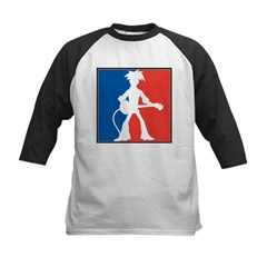 Guitarist with guitar Kids Baseball Jersey