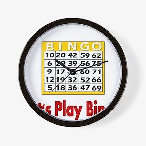 Lets play Bingo Wall Clock