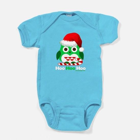 Christmas Owl Hoo Hoo Hoo Baby Bodysuit