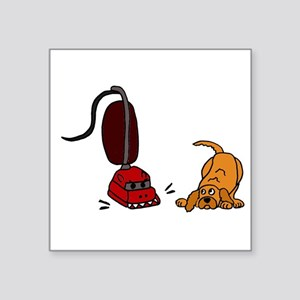 Dog Afraid of Vacuum Monster Sticker