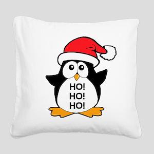 Cute Christmas Penguin Ho Ho Ho Square Canvas Pill