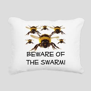 Beware Of The Swarm Rectangular Canvas Pillow