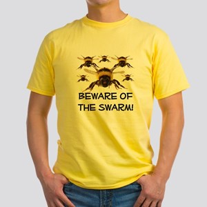 Beware Of The Swarm Yellow T-Shirt
