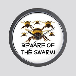 Beware Of The Swarm Wall Clock