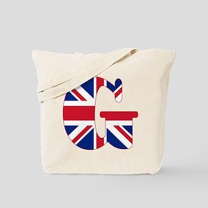 UNION JACK MONOGRAM Letter G Tote Bag
