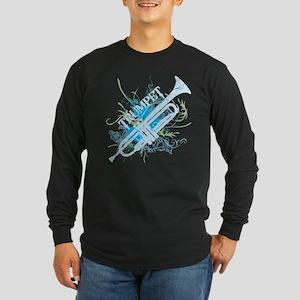 Cool Grunge Trumpet Long Sleeve Dark T-Shirt