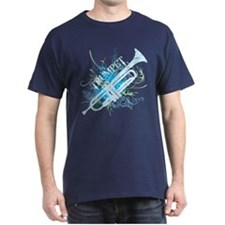 Cool Grunge Trumpet Dark T-Shirt