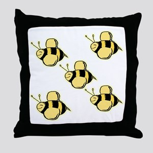 Just Bees Throw Pillow