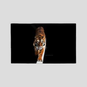 Tiger on moon path 3'x5' Area Rug