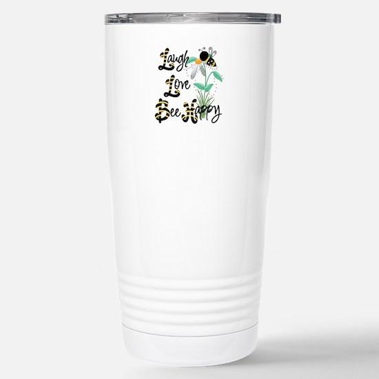 Bee Happy Travel Mug