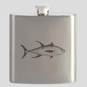 Yellowfin Tuna Logo (line art) Flask