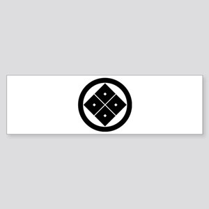 Tilted four-square-eyes in circle Sticker (Bumper)