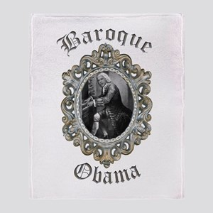 Baroque Obama Throw Blanket