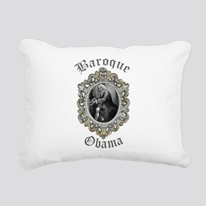 Baroque Obama Rectangular Canvas Pillow