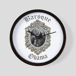 Baroque Obama Wall Clock