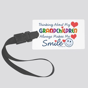 I Love My Grandchildren Large Luggage Tag