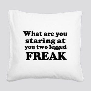 Two legged Freak Square Canvas Pillow