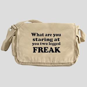 Two legged Freak Messenger Bag
