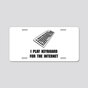 Keyboard Internet Aluminum License Plate