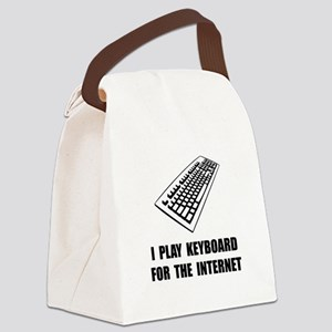 Keyboard Internet Canvas Lunch Bag