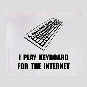 Keyboard Internet Throw Blanket