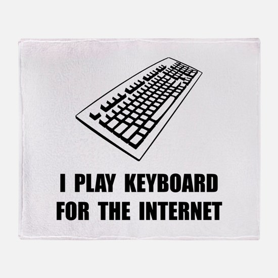 Keyboard Internet Throw Blanket