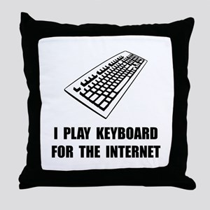 Keyboard Internet Throw Pillow