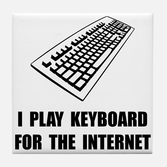 Keyboard Internet Tile Coaster