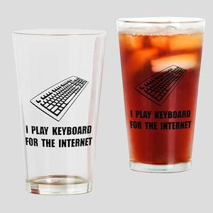 Keyboard Internet Drinking Glass