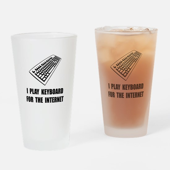 Keyboard Internet Drinking Glass