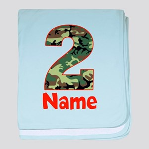 2nd Birthday Camo baby blanket