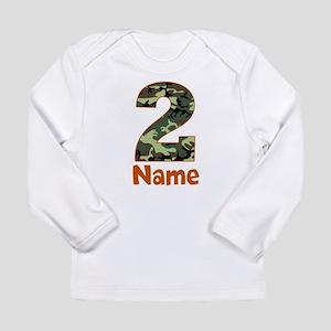 2nd Birthday Camo Long Sleeve T-Shirt