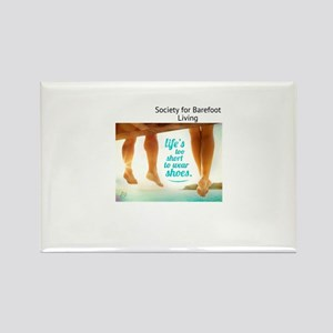 Barefoot Ts & things Rectangle Magnet