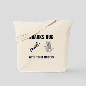 Sharks Hug Tote Bag