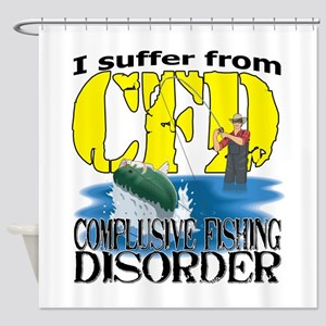 CFD - Compulsive Fishing Disorder Shower Curtain