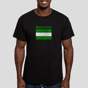 Rotterdam City Flag Men's Fitted T-Shirt (dark)