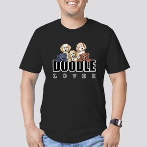 Doodle Lover Men's Fitted T-Shirt (dark)