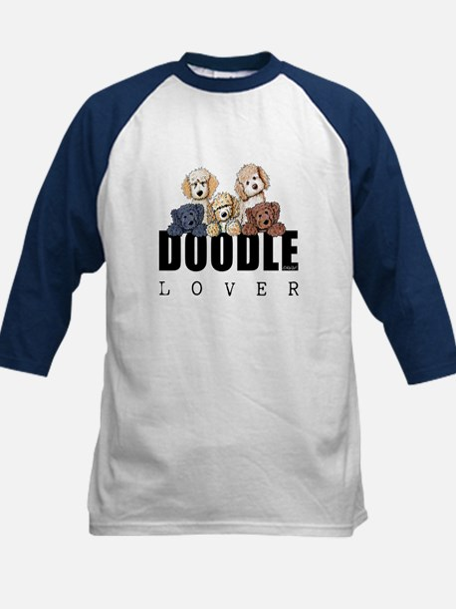 Doodle Lover Kids Baseball Jersey