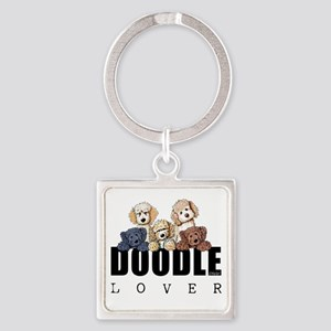 Doodle Lover Square Keychain
