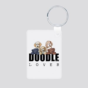 Doodle Lover Aluminum Photo Keychain