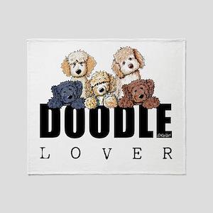 Doodle Lover Throw Blanket
