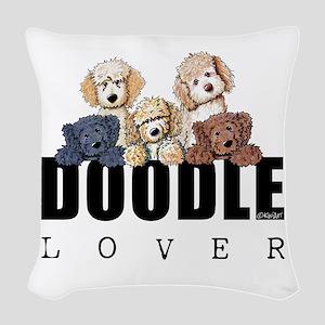 Doodle Lover Woven Throw Pillow