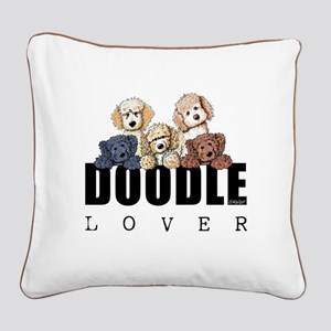 Doodle Lover Square Canvas Pillow